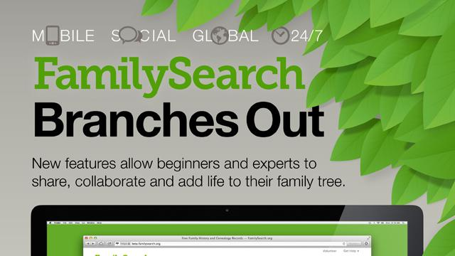 mormon lds family search branch out Infographic